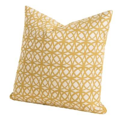 Suncrest Throw Pillow Size: 16 H x 16 W x 6 D, Color: Gold