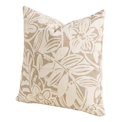 Karina Throw Pillow Size: 20 H x 20 W x 6 D, Color: Linen