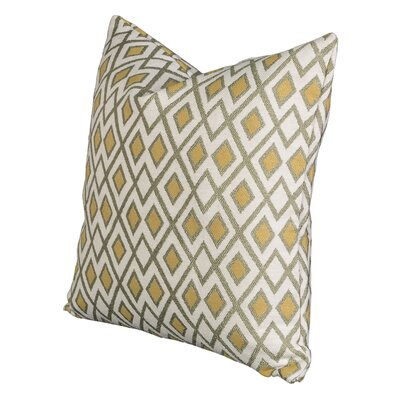 Johnny Throw Pillow Size: 16 H x 16 W x 6 D, Color: Chive