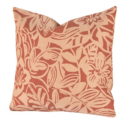 Karina Throw Pillow Size: 16 H x 16 W x 6 D, Color: Melon