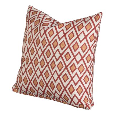 Johnny Throw Pillow Size: 26 H x 26 W x 6 D, Color: Poppy
