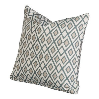 Johnny Throw Pillow Size: 26 H x 26 W x 6 D, Color: Lagoon
