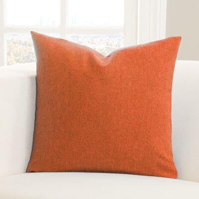 Throw Pillow Size: 16 H x 16 W x 6 D, Color: Orange