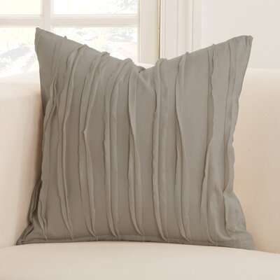 Tattered Throw Pillow Size: 26 x 26, Color: Haze