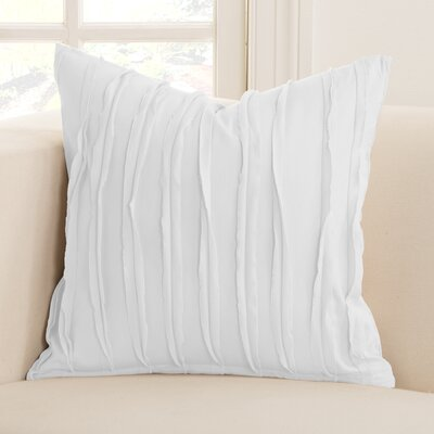 Tattered Throw Pillow Color: White, Size: 20 x 20