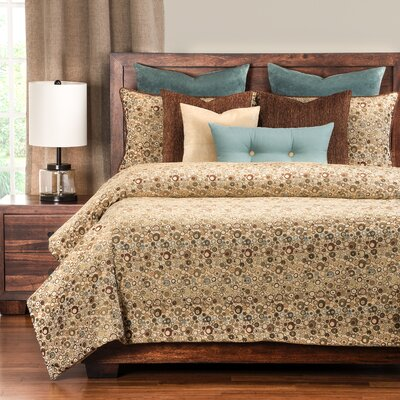 Derry 5 Piece Reversible Duvet Cover Set Size: California King