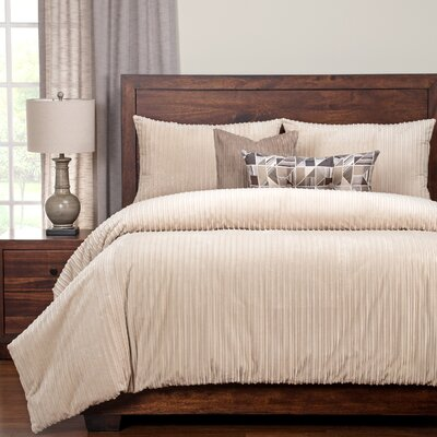 Palmdale Duvet Set Size: Queen, Color: Beige