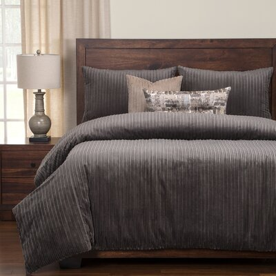 Palmdale Duvet Set Size: King, Color: Gray