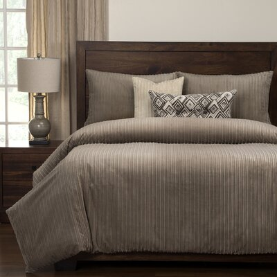 Downy Duvet Set Size: King, Color: Taupe