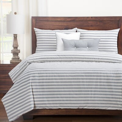 Grandbrook Duvet Set Size: Twin, Color: Pewter