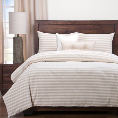 Farmhouse Duvet Set Size: California King, Color: Barley