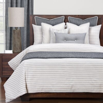 Melorse Burlap Duvet Set Size: Queen, Color: Ivory