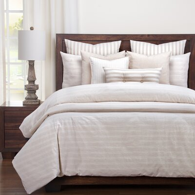 Austin Duvet Set Size: King, Color: Barley
