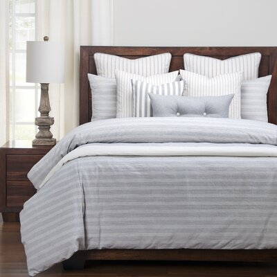 Austin Duvet Set Size: King, Color: Indigo