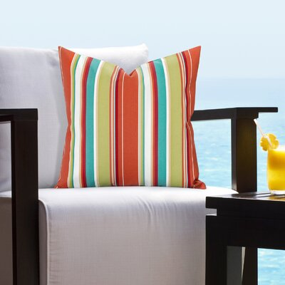 Elyza Outdoor Throw Pillow Size: 26 H x 26 W x 6 D, Color: Red/Blue/Beige