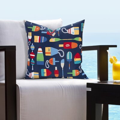 Tiffany Buoy Outdoor Throw Pillow Size: 16 H x 16 W x 6 D