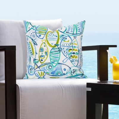 Bracken Guppy Outdoor Throw Pillow Size: 26 H x 26 W x 6 D