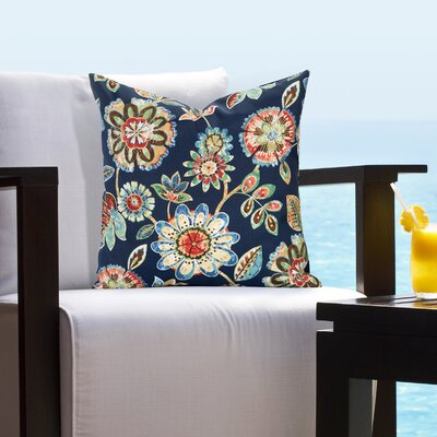 Billings Magnolia Outdoor Throw Pillow Size: 16 H x 16 W x 6 D
