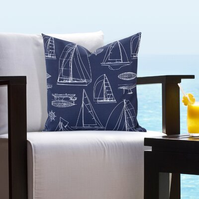 Theresa Regatta Outdoor Throw Pillow Size: 20 H x 20 W x 6 D, Color: Red