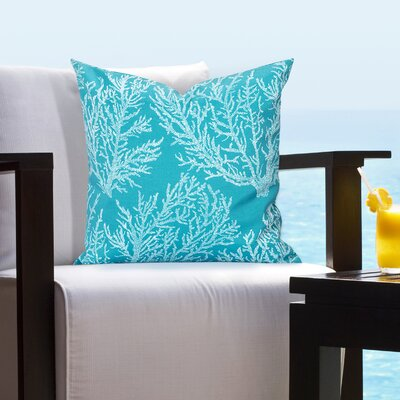 Rothbury Seacoral Outdoor Throw Pillow Size: 26 H x 26 W x 6 D