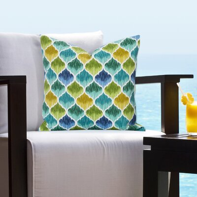 Bradenville Tide Pool Caribbean Outdoor Throw Pillow Size: 20 H x 20 W x 6 D, Color: Blue/Green/Yellow