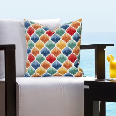 Bradenville Tide Pool Caribbean Outdoor Throw Pillow Size: 26 H x 26 W x 6 D, Color: Red/Teal/Orange