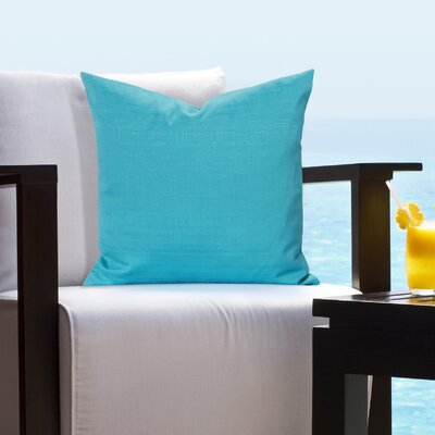 Johansen Tropical Outdoor Throw Pillow Size: 16 H x 16 W x 6 D, Color: Turquoise