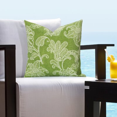 Baskerville Outdoor Throw Pillow Size: 26 H x 26 W x 6 D, Color: Citrus