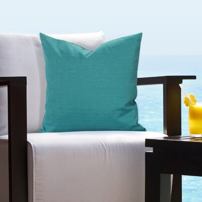 Johansen Tropical Outdoor Throw Pillow Size: 16 H x 16 W x 6 D, Color: Teal