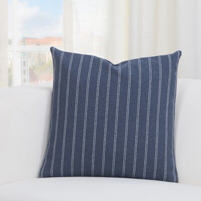 Jonathan Burlap Brick Throw Pillow Size: 20 H x 20 W x 6 D, Color: Indigo