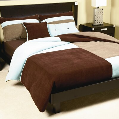 Delmont Duvet Cover Set Color: Dark Earth, Size: Queen