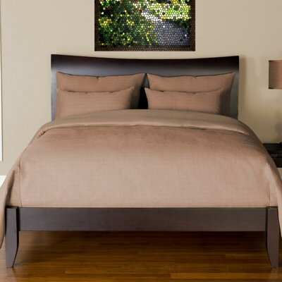 Arlosh Duvet Cover Set Size: King, Color: Flax