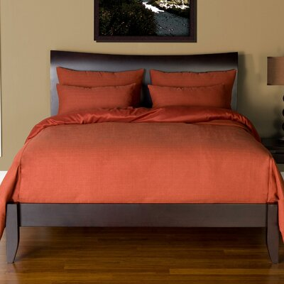Arlosh Duvet Cover Set Size: California King, Color: Henna