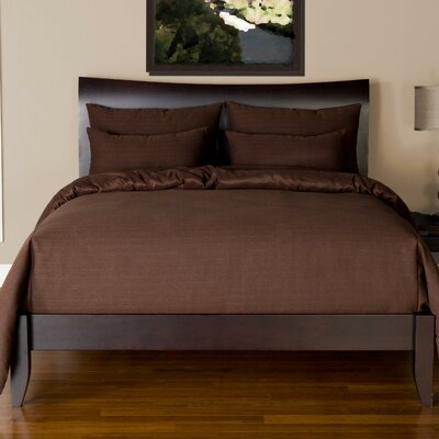 Arlosh Duvet Cover Set Size: California King, Color: Chocolate