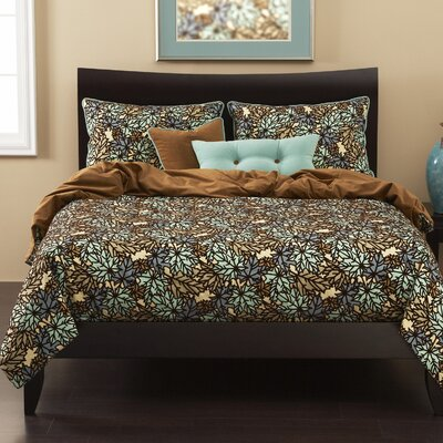 Talia Duvet Cover Set Size: California King, Color: Spa