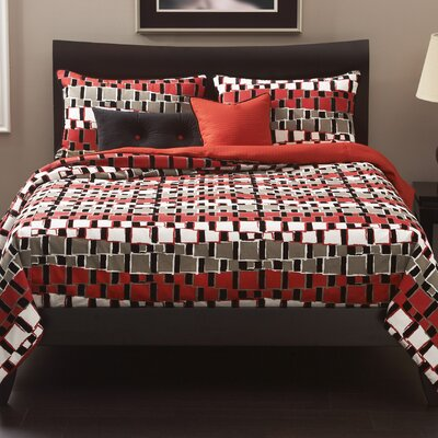 Dianna Duvet Cover Set Color: Bam, Size: King