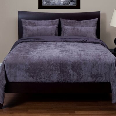 Draper Duvet Cover Set Size: Twin, Color: Pewter