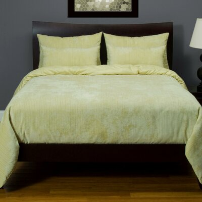 Giovanna Draper Duvet Cover Set Color: Dew, Size: King