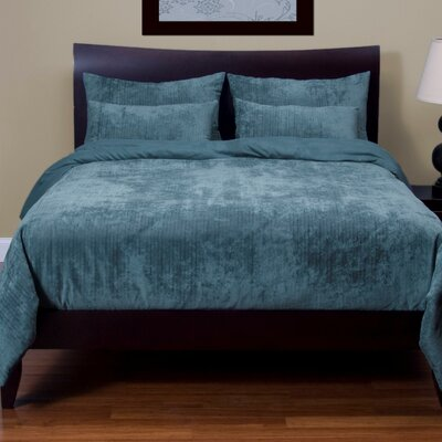 Giovanna Draper Duvet Cover Set Size: King, Color: Blue