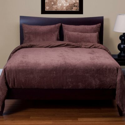 Giovanna Draper Duvet Cover Set Size: California King, Color: Cognac