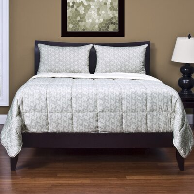 Carley 3 Piece Reversible Duvet Cover Set Size: King