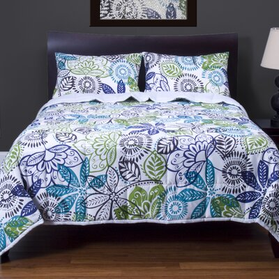 Bali 3 Piece Reversible Duvet Cover Set Size: Queen