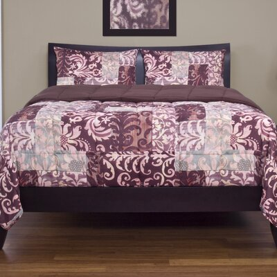 Barcelona 3 Piece Reversible Duvet Cover Set Size: King