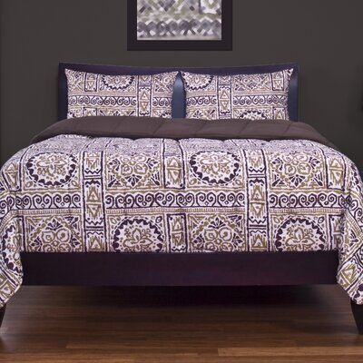Burel 3 Piece Duvet Cover Set Size: Queen
