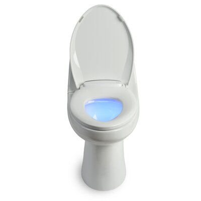 LumaWarm Heated Nightlight Toilet Seat Size: Elongated, Finish: White