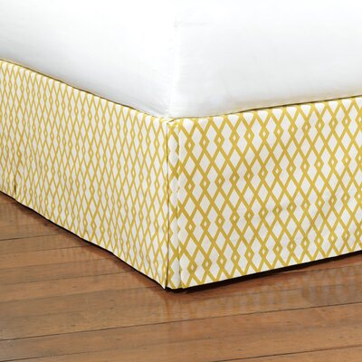 McQueen Lattice Bed Skirt Size: King