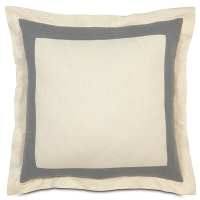 Breeze Euro Sham Color: Pearl/Slate