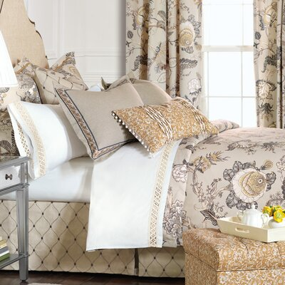 Edith Comforter Size: Queen, Finish Type: Button-Tufted
