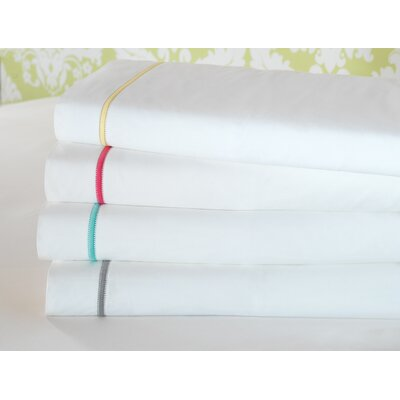 4 Piece Gala 200 Thread Count Sheet Set Size: King, Color: Lemon