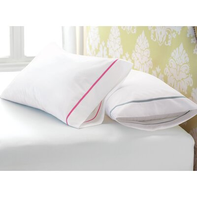 Gala Egyptian Pillow Case Size: Standard, Color: Dove